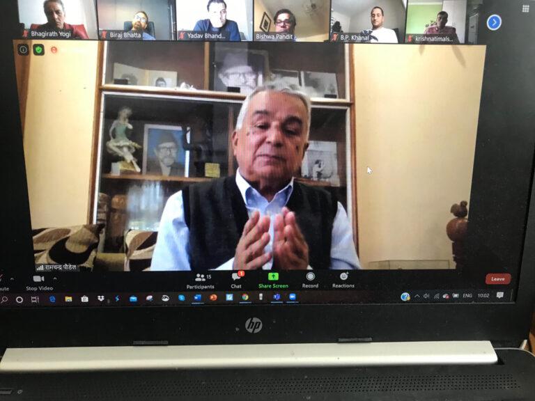 नेपाललाई प्रयोगशाला नबनाउँ : कांग्रेस नेता रामचन्द्र पौडेल