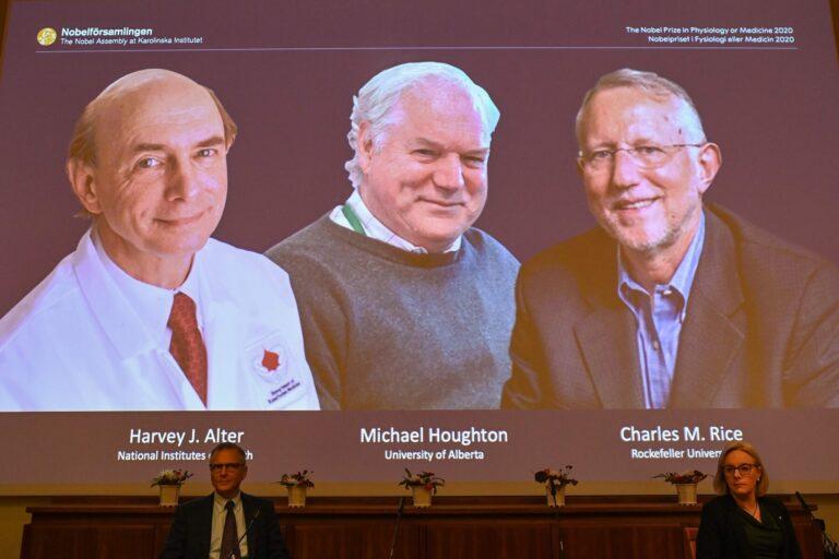 चिकित्साशास्त्रतर्फको नोबेल पुरस्कार 'हेपटाइटिस सी' भाइरस पत्ता लगाउने तीन वैज्ञानिकलाई