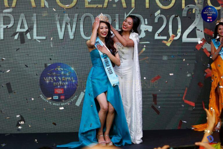मिस नेपाल वर्ल्ड २०२० को उपाधि नम्रता श्रेष्ठलाई